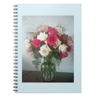 Ramo de rosas spiral notebooks