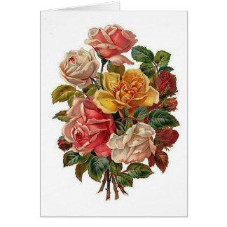 Ramo de rosas tarjeta de felicitación