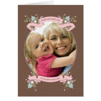 Ramo de tarjeta del día de madre enmarcada amor de