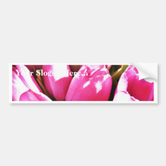 Ramo de tulipanes rosados pegatina para auto