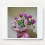 Ramo de tulipanes tapete de ratones