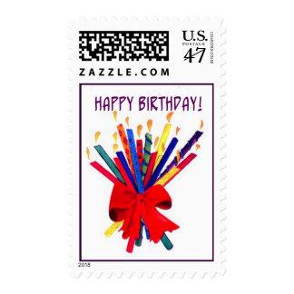 Ramo de velas del cumpleaños sello