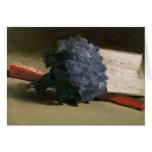 Ramo de violetas, 1872 tarjeta de felicitación