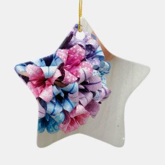 Ramo del boda de papel adorno de cerámica en forma de estrella