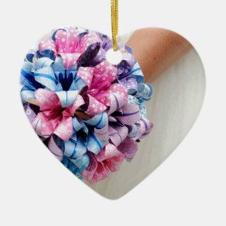 Ramo del boda de papel adorno de cerámica en forma de corazón