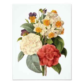 Ramo del boda del vintage, flores florecientes anuncio personalizado