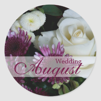Ramo del boda • Pegatina del boda de agosto