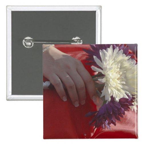Ramo del boda pin cuadrada 5 cm
