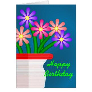 Ramo del cumpleaños tarjeta pequeña