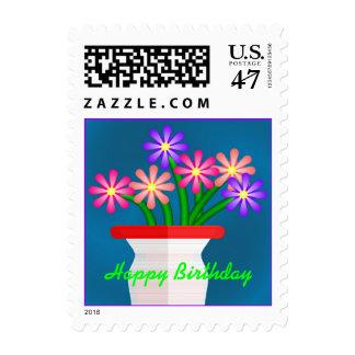 Ramo del cumpleaños timbres postales