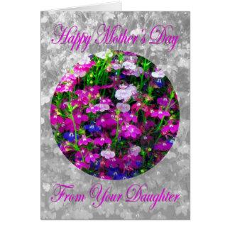 Ramo del día de madre de la hija tarjeta de felicitación