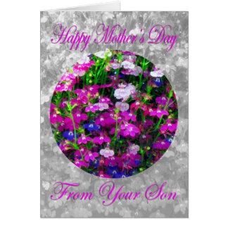 Ramo del día de madre del hijo tarjeta de felicitación