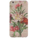 Ramo del estilo del vintage en floral envejecida y funda de iPhone 6 slim