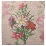 Ramo del estilo del vintage en vagos florales y de servilletas de papel