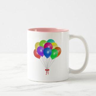 Ramo del globo taza de dos tonos
