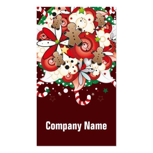 Ramo del hombre de pan de jengibre del navidad plantilla de tarjeta de visita