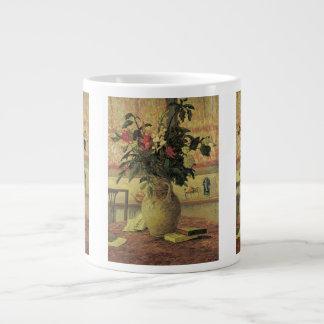 Ramo del impresionismo del vintage de flores por taza grande