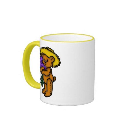 Ramo del oso de peluche taza a dos colores