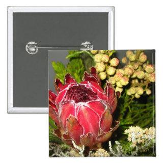 Ramo del Protea Pin Cuadrado