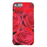 Ramo del rosa rojo funda de iPhone 6 barely there