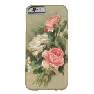 Ramo del rosa rosado y blanco funda de iPhone 6 barely there