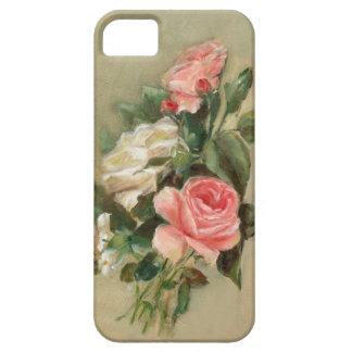 Ramo del rosa rosado y blanco iPhone 5 fundas