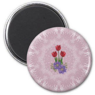 Ramo del tulipán del del hogar y del jardín imán de frigorifico