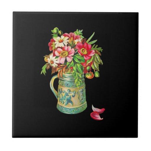 Ramo del vintage azulejos ceramicos