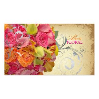 Ramo del vintage de PixDezines, floristas/colores  Plantilla De Tarjeta De Visita