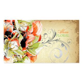 Ramo del vintage de PixDezines, floristas/colores  Plantillas De Tarjetas De Visita
