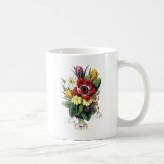 Ramo del vintage flores tazas de café