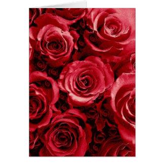 Ramo elegante del boda del rosa rojo tarjeta de felicitación