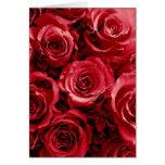 Ramo elegante del boda del rosa rojo tarjeton