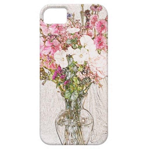Ramo en la colección clara del florero iPhone 5 coberturas