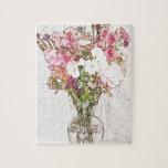Ramo en la colección clara del florero puzzles