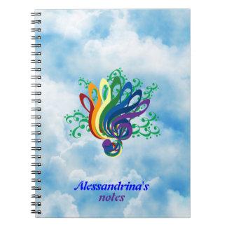 Ramo en nubes, nombre adaptable del Clef Notebook
