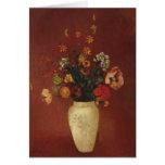 Ramo en un florero chino, Odilon Redon Felicitación