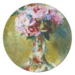 Ramo en una pintura de Pedro Auguste Renoir del fl Platos Para Fiestas