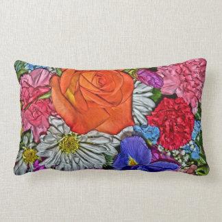 Ramo floral brillantemente coloreado cojin