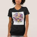 Ramo floral camisetas