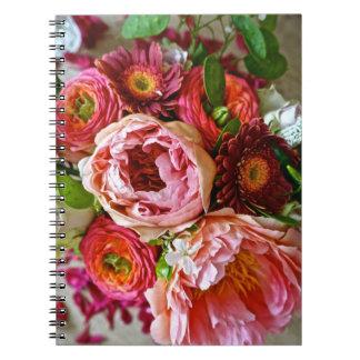 Ramo floral, cuadernos espirales