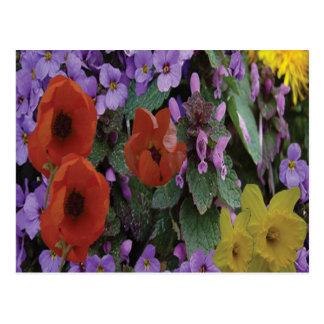 Ramo floral de Collaged - postal