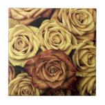 Ramo floral descolorado hermoso del vintage de los tejas  ceramicas
