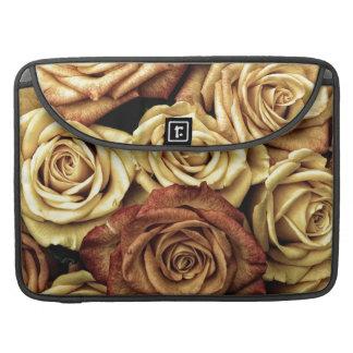Ramo floral descolorado hermoso del vintage de los funda para macbooks