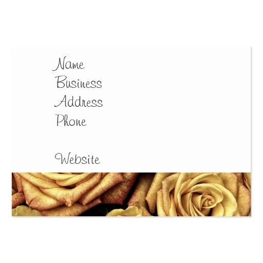 Ramo floral descolorado hermoso del vintage de los tarjetas de visita grandes
