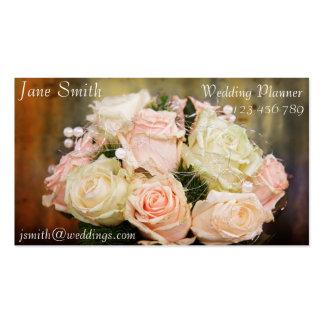 Ramo floral elegante del vintage del planificador tarjetas de visita