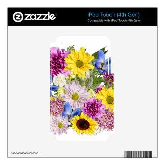 Ramo floral elegante iPod touch 4G calcomanía