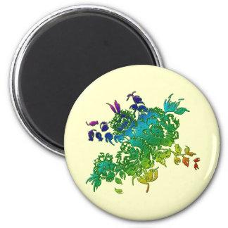 Ramo floral imán redondo 5 cm
