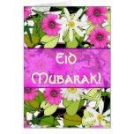 Ramo floral rosado Eid Mubarak Felicitación