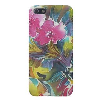 Ramo hermoso luminoso de pintura de las flores iPhone 5 funda